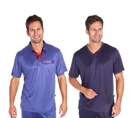 MEN'S TOUCH MF Jersey Interlock Shirts 1/2-Arm 1x V-ausschnitt 1x Poloshirt