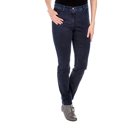 FRANK WALDER Jeanshose 4-Pocket-Style gerades Bein Power Stretch