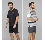 MEN'S TOUCH MF Jersey Interlock Shorty bedruckt & uni Doppelpack