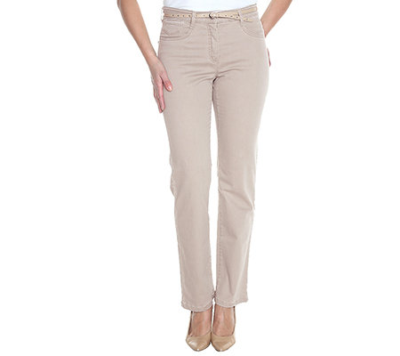 CLUB OF COMFORT Damenhose Sury 5-Pocket-Style Ziernieten Gürtel