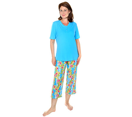 LITTLE ROSE MF Pyjama 1/2-Arm 7/8-Hose Blumen-Druck