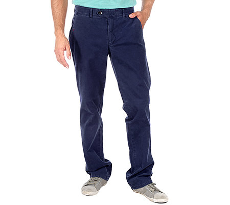 CLUB OF COMFORT Herrenhose Duke Twill-Struktur Velvet-Oberfläche