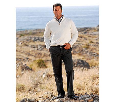 CLUB OF COMFORT Herrenhose Dallas Chino Baumwolle mit Thermolite