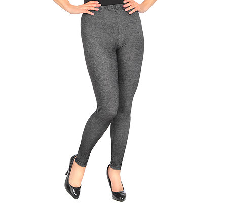 DENIM & CO. Leggings Jeans-Optik Rundumdehnbund Glitzer-Effekt