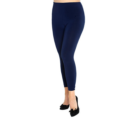VIA MILANO PLUS Leggings Rundumdehnbund Strasssteindetail uni