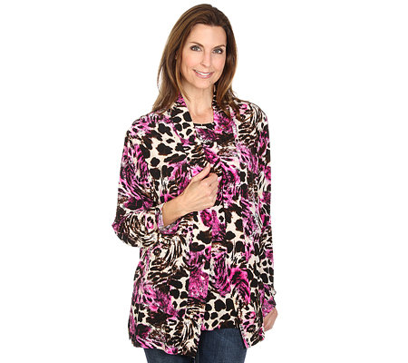 IN-PRINT Twinset Cardigan, 1/1 Arm & Shirt, 1/2 Arm Animaldruck