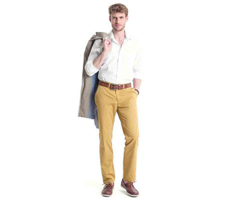 CLUB OF COMFORT® Herrenhose Gaston Chino-Style Pima-Cotton strukturierte Ware