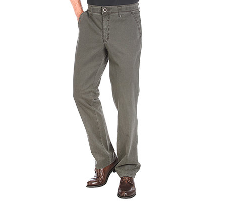 CLUB OF COMFORT Herrenhose Carlos Chino Velvet Finish Vintage-Charakter