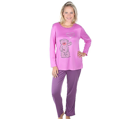 LITTLE ROSE MF Jersey Interlock Pyjama, 1/1-Arm Rundhalsausschnitt Bärmotiv