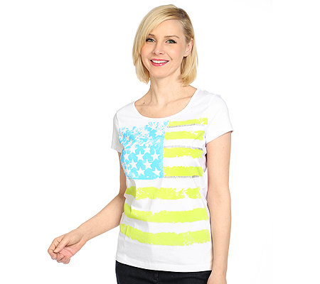HEARTBEAT Shirt, 1/2-Arm Rundhalsausschnitt Stars and Stripes