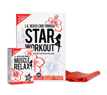 L.A. HEALTH CARE Lounge Sport Set DVD Star Workout, Theraband & 30 Kapseln