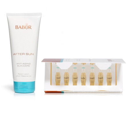 BABOR After Sun Repair Lotion 200ml & After Sun Fluids 7x 2ml