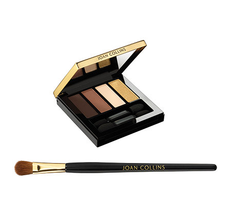 JOAN COLLINS Timeless Beauty Lidschatten- Kollektion mit Pinsel & Spiegelbox
