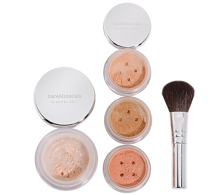 bareMinerals Fabulous Finishes Mineral Veil Set 4-tlg mit Pinsel
