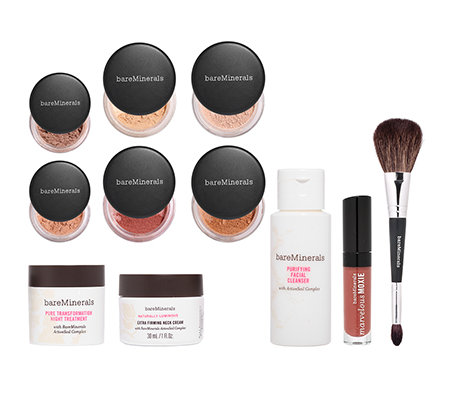 bareMinerals Beauty Resolution Make up- & Pflege-Set mit Tasche, 11-tlg.