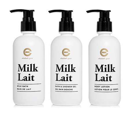 ELIZABETH GRANT Milk Body Collection Körpercreme, Schaumbad & Duschgel