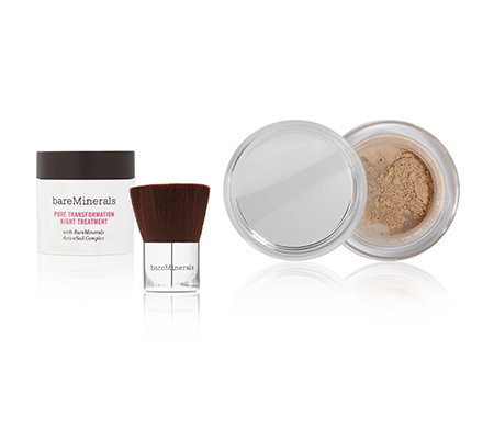 bareMinerals® Pure Transformation Tag-&Nachtpflege Duo mit Pinsel