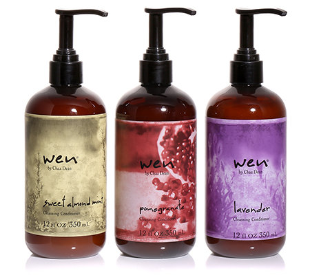 WEN by Chaz Dean Cleansing Conditioner Mandel & Minze, Granatapfel & Lavendel, 3x 350ml