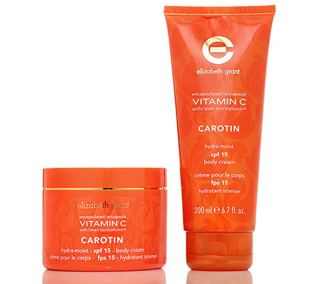 ELIZABETH GRANT VITAMIN C mit Carotin Body Cream & SPF 15 2x 200ml