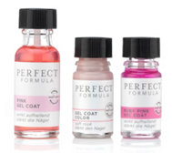 PERFECT FORMULA Pink Gel Coat 18ml, Ruby Pink Gel Coat & Color Gel Coat Soft Rosé, je 5ml