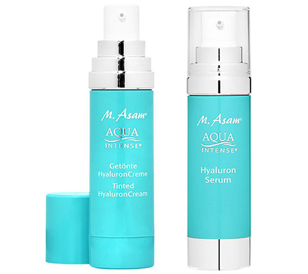 M.ASAM® AQUA INTENSE Hyaluron Serum 50ml & getönte Creme 50ml