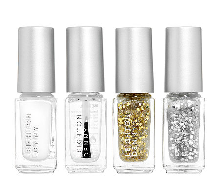 LEIGHTON DENNY Nagellack-Quartett French Glitter für glitzernde French-Look, je 4,6ml