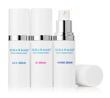 FLORA MARE Seren-Set SOS-, Hydro- & 3D Serum 3x 30ml