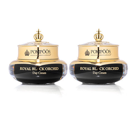 POMPÖÖS DESIGN by Harald Glöckler Black Orchid Day Cream Duo je 50ml