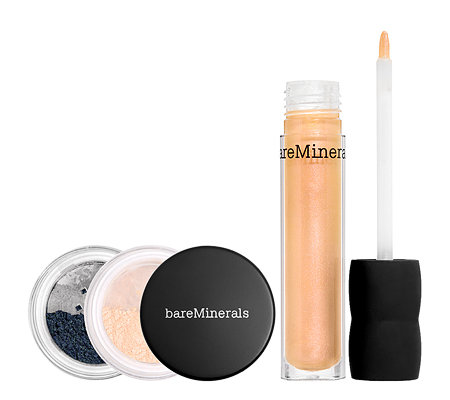 bareMinerals Royal Treatment 2 Lidschatten & Natural Lipgloss 3tlg.
