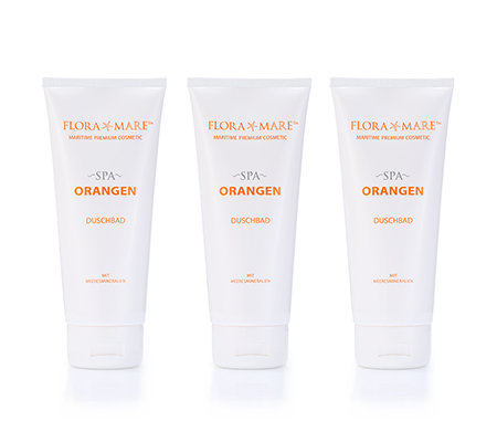 FLORA MARE SPA Orange Duschbad-Trio jeweils 200ml