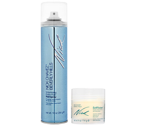 NICK CHAVEZ Volumen Styling Soft Flocker & Volumenhaarspray Set, 2-tlg.
