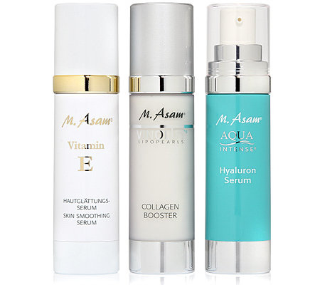 M.ASAM Seren-Set 3x50ml Vitamin E Serum Collagen Booster Hyaluron Serum