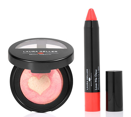 LAURA GELLER Color of Love Rouge & Highlighter Lip Crayon 2-tlg.