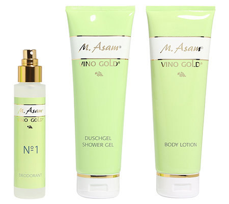 M.ASAM VINO GOLD Bodylotion 250ml, Duschgel 250ml, Deo 100ml