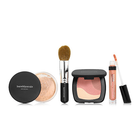 bareMinerals® 4-tlg. Foundation deluxe Size 16g, Ready Color Boost, Lipgloss & Pinsel