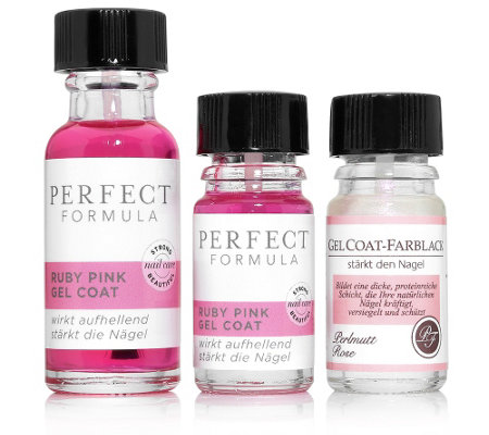 PERFECT FORMULA Ruby Pink Gel Coat 18ml & 5ml Colour Gel Coat Perlmutt Rosé 5ml