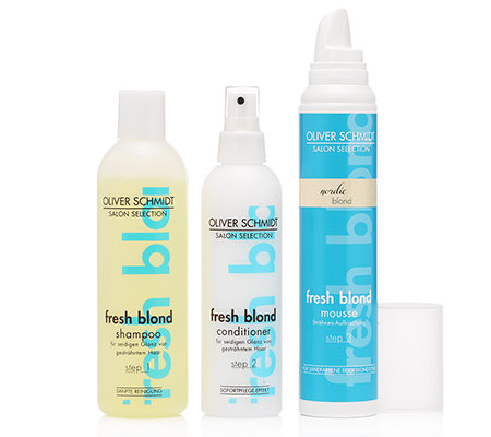 OLIVER SCHMIDT Fresh Blond Set Shampoo, Mousse & Conditioner 3-tlg.