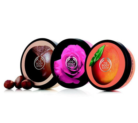 THE BODY SHOP® Body Butter Trio Mango, Shea & British Rose je 200ml