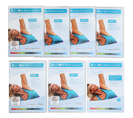 FLEXI-SPORTS Body Mind Improvement individuelles Fitnesstraining für Zuhause mit 6 DVDs