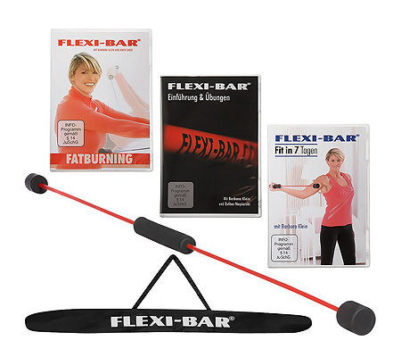 FLEXI-SPORTS Flexi-Bar 3 Trainings-DVDs Trainingsplan & Tasche