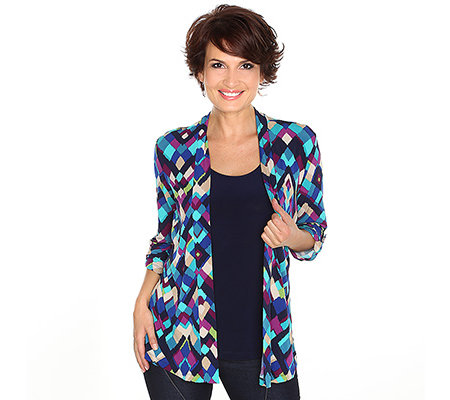 NINA LEONARD Shirt 3/4-Arm krempelbar 2 in 1 Optik