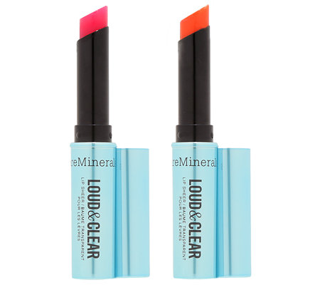 bareMinerals Loud & Clear Lippenstift Duo in Frühlingsfarben