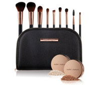 NUDE BY NATURE Pinsel-Set mit Finish Puder & Bronzer inkl. Tasche, 12tlg.