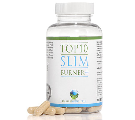 PURE HEALTH Top 10 Slim Burner + Zitrusöl-Komplex 120 Kapseln