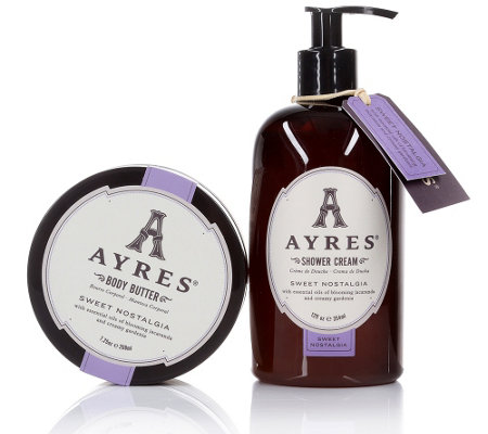 AYRES SWEET NOSTALGIA Showercream 354ml & Bodybutter 208ml