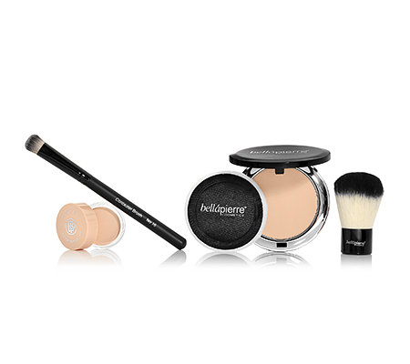 bellápierre® Cosmetics Foundation, Make up Base & 2 Pinsel, 4-tlg.