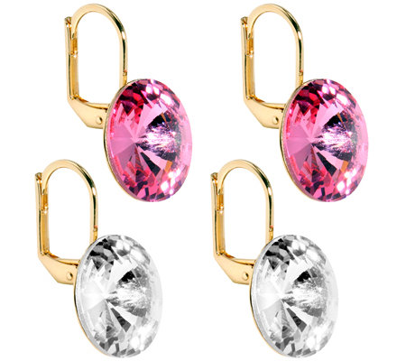 LONDON COLLECTION Ohrbouton-Set Rivoli Swarovski Kristalle vergoldet