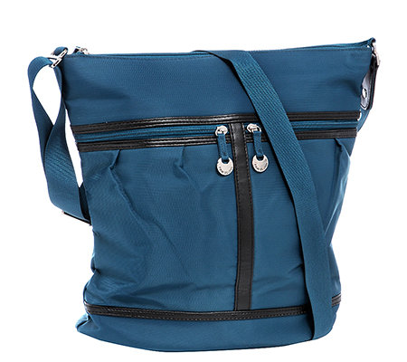 TRAVELON Shopper Polyester Kontrast-Details Riemen max. 160cm