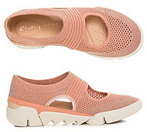 CLARKS® Damenslipper Tri Blossom Materialmix Strick-Optik - 317213