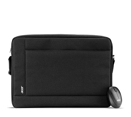 ACER Notebook Starter- Set, 39,6cm Notebooktasche & schnurlose Maus
